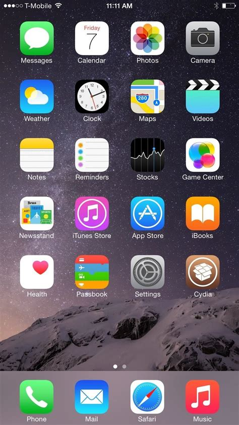 get the iphone 6 plus resolution home screen landscape