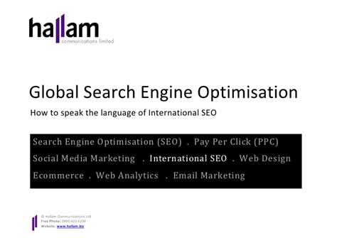 International Search Engines International Search Engine Optimisation White Paper How