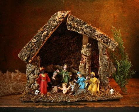 vintage 19 piece nativity set from italy 19 best vintage nativity sets images on nativity set nativity