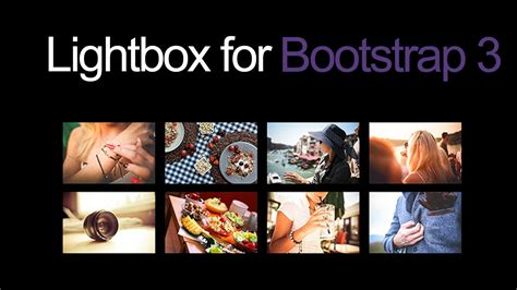 tutorial bootstrap lightbox a simple lightbox gallery plugin for bootstrap 3 youtube