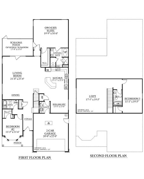 House Plans 1 1 2 Story by Southern Heritage Home Designs House Plan 2632 A The