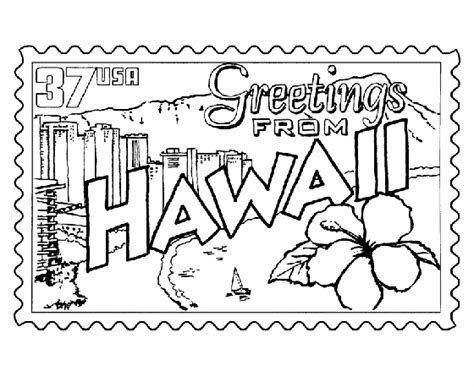 hawaii coloring pages hawaii state coloring pages to