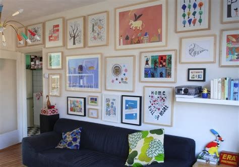 ideas for displaying pictures on walls displaying kids artwork in a sophisticated fashion