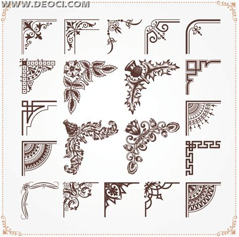 continental corners lace decorative pattern eps file to