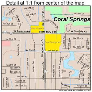 coral springs florida map 1214400