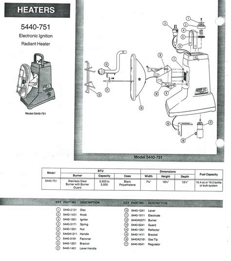 Oldcolemanparts Com Parts Diagrams Coleman Patio Heater Parts