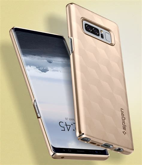 Spigen Galaxy S8 Thin Fit Maple Gold spigen 174 thin fit 587cs22053 samsung galaxy note 8