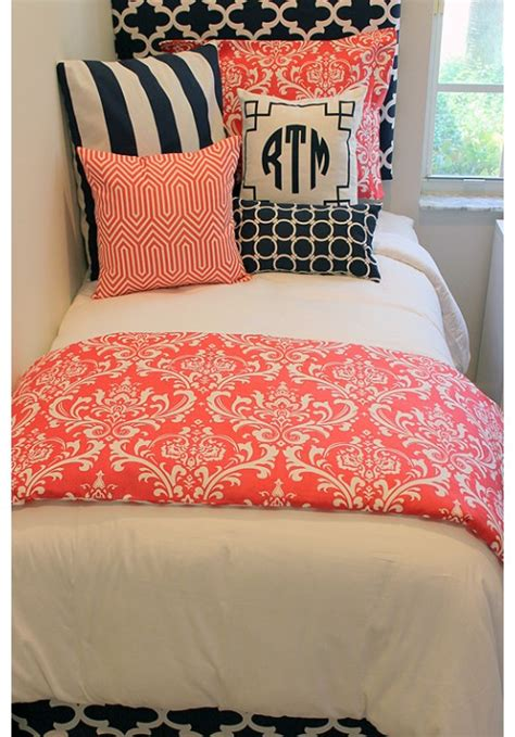 teen girl bed in a bag coral navy designer teen dorm bed in a bag teen girl