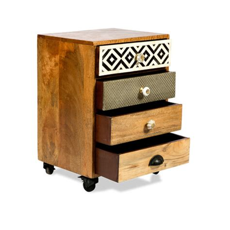 4 Drawer Bedside Table by Infinity 4 Drawer Bedside Table Zizo