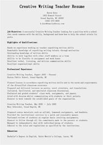 Exles Of Resume Writing by Resume Sles Creative Writing Resume Sle
