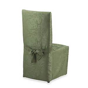 damask chair covers buy autumn scroll damask dining room chair cover in fern from bed bath beyond