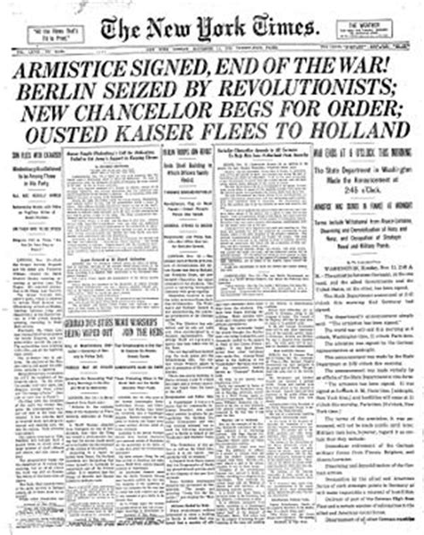 revolutionary war newspaper template armistice day