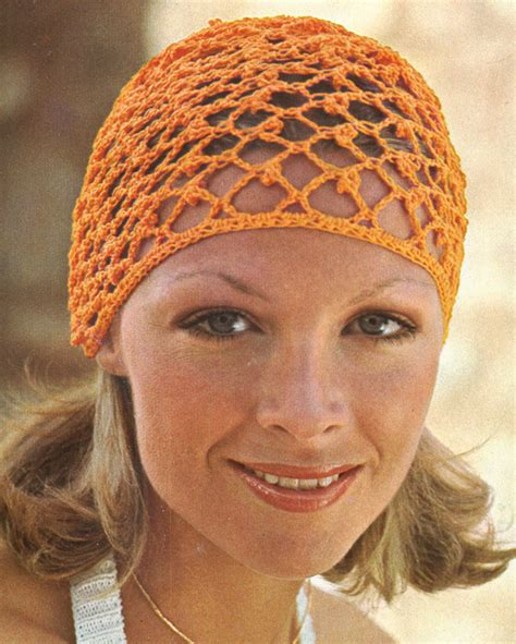 pattern for snood hair net 1970s crochet hair net vintage pattern pdf 7404 fashions