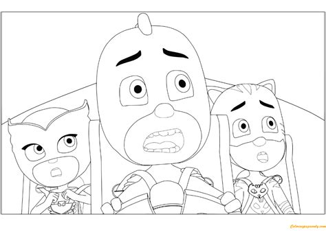 catboy pj masks coloring pages owlette gekko and catboy from pj masks coloring page