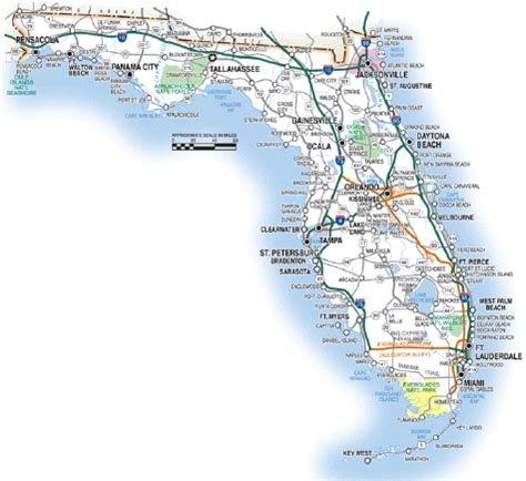 road map directions florida road maps statewide and regional