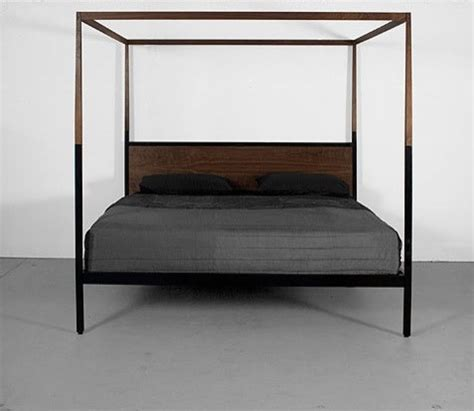 contemporary canopy bed canopy bed by uhuru contemporary canopy beds by