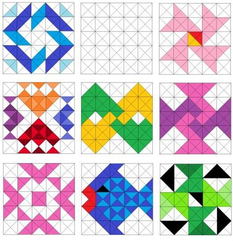 Half Triangle Quilt Patterns by Easy Triangle Quilting Patterns Half Square Triangles