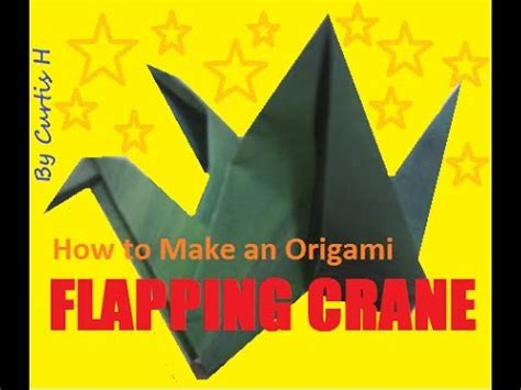How To Make An Origami Crane That Flaps Its Wings - how to make an origami flapping crane