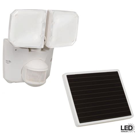 defiant 180 degree outdoor white motion activated solar