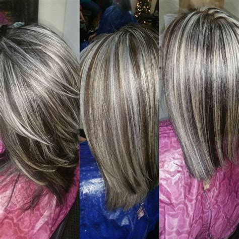 hair reverse frosting frosted hair color look pictures to pin on pinterest