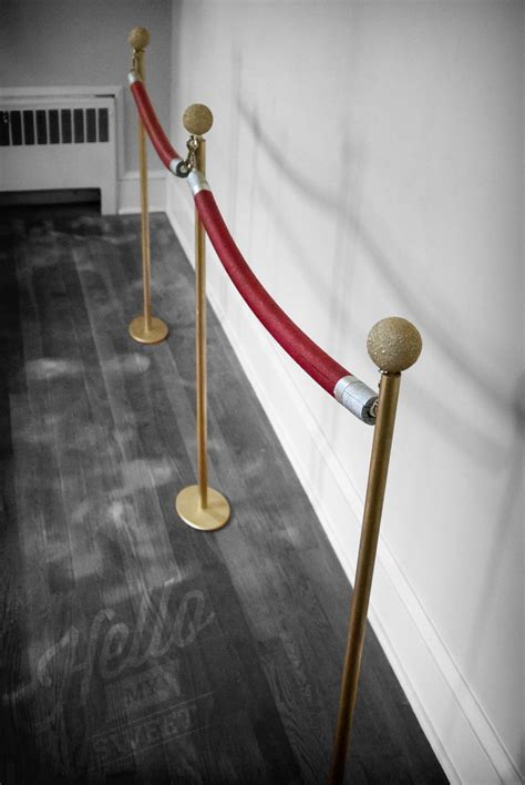 diy red stanchions hello my sweet