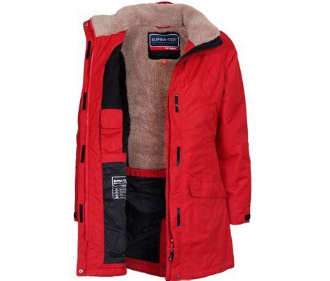 Wintermantel Damen Warm by Bergson Damen Outdoor Wintermantel Georgie Dahlia Rot