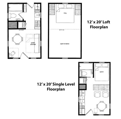 Tiny Home Cabin Packages Are Available From Finished Right Floor Plans For A 12 X 32 House