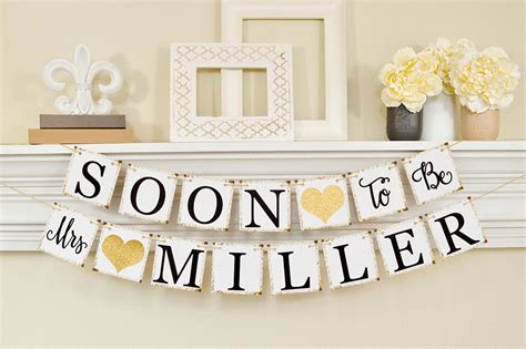 bridal shower banner template soon to be mrs banner bridal shower decorations bridal