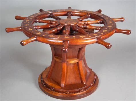 Wheel Coffee Table Nautical Ships Wheel Coffee Table At 1stdibs