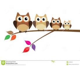 owl family stock vector image 41985935