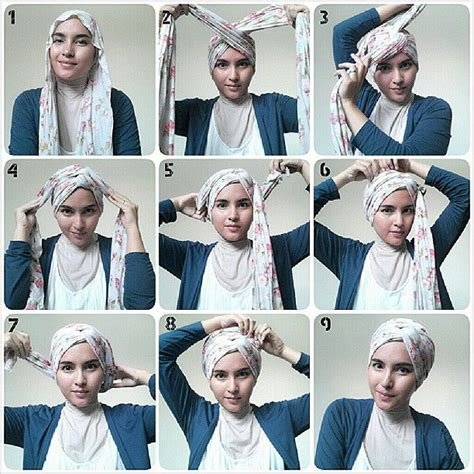 tutorial hijab turban pashmina simple very simple turban style hijab tutorial wrap it up