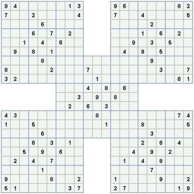 printable triple sudoku printable sudoku puzzles triple samurai puzzle