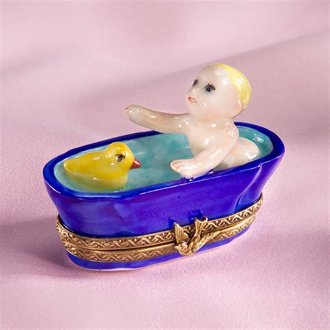 rubber duck bathtub limoges baby in bathtub with rubber duck box limoges