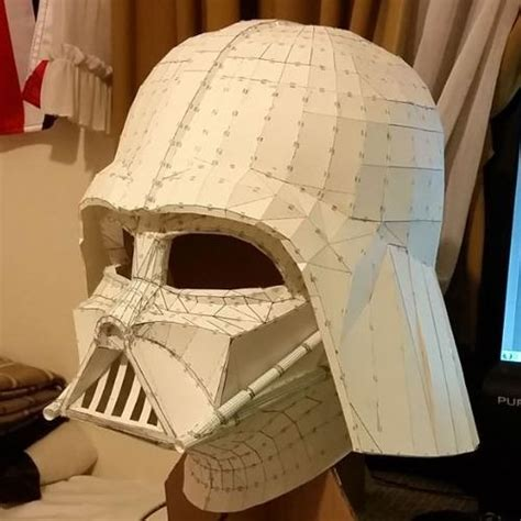 Wars Papercraft Models - wars size darth vader helmet papercraft ver 5