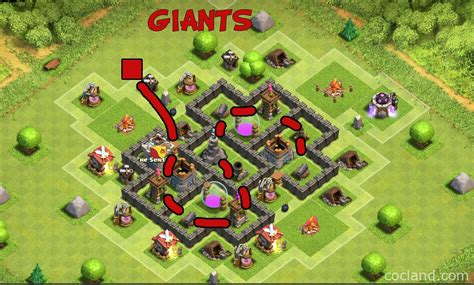 layout coc th5 anti giant coc th5 trophy base memes