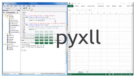 python in excel pyxll