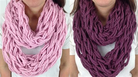 how to knit an infinity scarf 30 minute arm knit infinity scarf cowl with brand