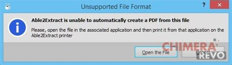 file format unsupported able2extract 9 convertire documenti professionali