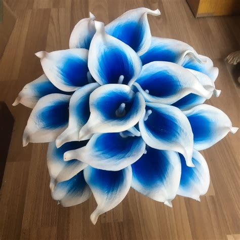 Kalla Blue picasso blue calla lilies royal blue calla bouquet 10