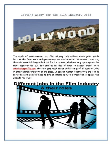 film industry it jobs getting ready for the film industry jobs