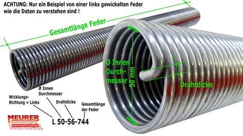Garagentor Feder Wechseln by Torsions Feder 605 Sektionaltor L 50 48 514 36030605