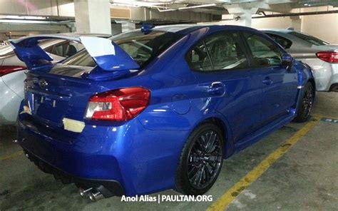 subaru impreza malaysia subaru wrx and wrx sti sighted in malaysia paul tan