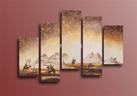 painting decor high quality hand painted africa desert landscape oil painting modern abstract egypt pyramids