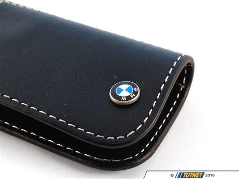 genuine bmw leather key fob black turner