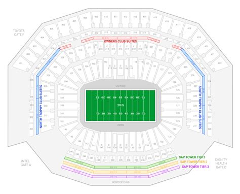 row of seats synonym image gallery levi s stadium location map