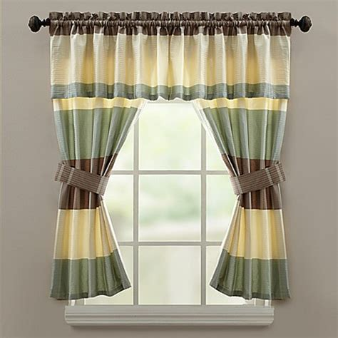 bed bath and beyond fairfax croscill 174 fairfax bath window curtain valance in taupe