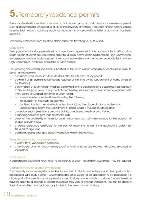 Confirmation Letter Permanent Residence South Africa Of Pretoria International Students Guide 2014