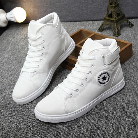 Sepatu High Top Casual yween canvas shoes autumn top fashion lace up high style solid colors flat with youth