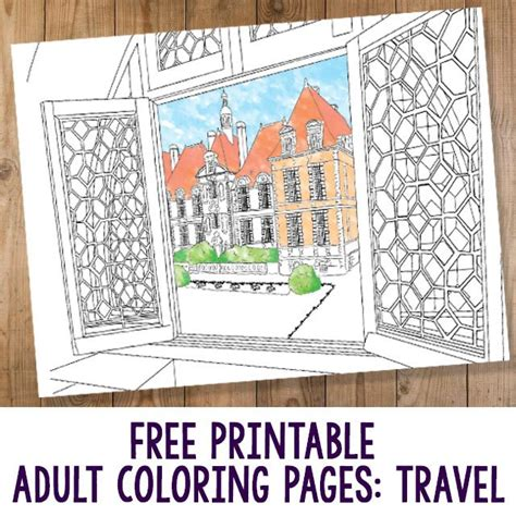 coloring pages for adults travel free printable adult coloring pages travel