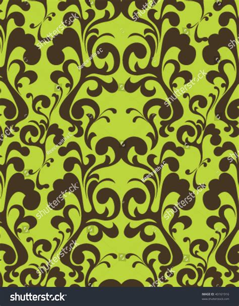 brown green pattern lime and chocolate brown swirling wallpaper pattern